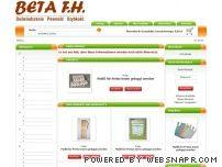 Beta FH opakowania, nadruki i materiały pomocnicze.